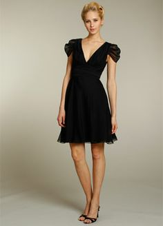 Cute bridesmaid dress..though i wouldnt do in black...Alvina Valenta 9177