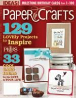 Paper Crafts magazine-how to make sentiments on word