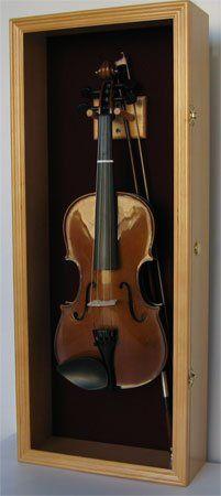 Violin Box Music Viola Display Case Cabinet Wall Rack Holder - OAK Finish (VD01-OA) DisplayGifts http://www.amazon.com/dp/B0050I9C92/ref=cm_sw_r_pi_dp_cFLRtb0Y7H6ZSE8B