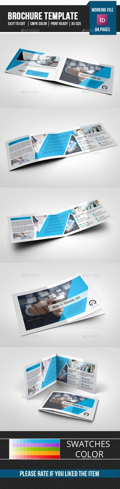 4 Page Landscape Brochure for Interior Design-V242 Brochures - landscape brochure