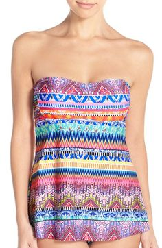 be8c404b03d60 Jessica Simpsn  Bali Breeze  Print Tankini Top available at  Nordstrom  Bandeau Swimsuit