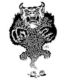Evil high priests can summon guardian daemons to guard their treasure. (Alan Hunter, AD&D Fiend Folio, TSR, Dream Fantasy, Fantasy City, Fantasy Drawings, Fantasy Artwork, Pen And Paper Games, Nostalgia Art, Dungeon Master's Guide, Advanced Dungeons And Dragons, Dnd Art
