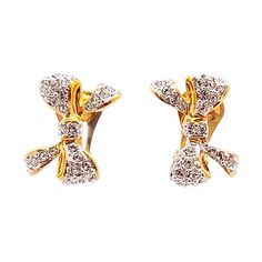 【ABISTE】リボンモチーフイヤリング/クリア http://www.myjewelbox.abiste.jp/products/detail12669.html