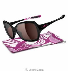 Oakley Breast Cancer Overtime Womens Polarized Sunglasses - Polished Black    OO Gray Polarized - just 1d47e30887