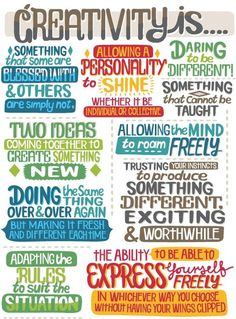 Creative is... #Inspiration (Author unknown.  Source: Tumblr)