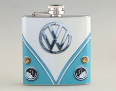 Volkswagen Classic Van Liquor Hip Flask Stainless Steel 6 oz (K-243) on Etsy, $16.99