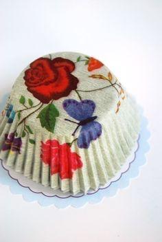 Pretty cupcake liners.
