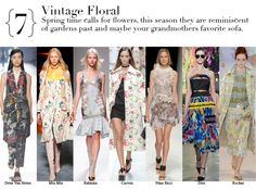 Paris Spring 2014 Top Trends - Vintage Floral