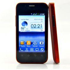 """Android Phones - 1-3 Inch Android Phones 10973 - Teléfono androide de 3.5 pulgadas """"Dex"""" - 1 GHz CPU, Dual SIM, Rojo. Precio 64,90 €"""