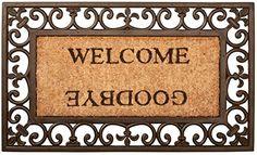 Esschert Design Welcome/Goodbye Door Mat - Rectangle