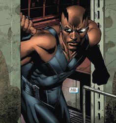 Blade Blade Marvel, Marvel Dc, Marvel Comics, Comic Book Heroes, Comic Books, Eric Brooks, Comics Anime, Day Walker, Vampire Hunter
