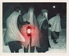 David Blackwood ), Canadian / Mummer Group from Pound Cove, etching with aquatint, 1976 South American Art, Canada Images, Canadian Artists, Newfoundland, Graphic Design Illustration, Art Reference, Printmaking, Folk Art, Auction
