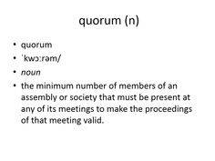 quorum meaning #gre #cat #vocabulary