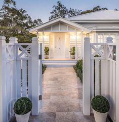Home sweet home #familyhome #welcome #silvertravertine #detail #fiddleleaffig #greyhouse #whitehouse #bardonreno #transformation #reno #queenslandhomes #brisbane #landscape #dusk