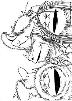 Where The Wild Things Are Coloring Pages Bing Images Art