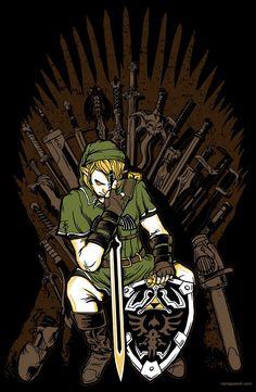 Game of Blades: Link sitting on the Iron Chair! Zelda x Game of Thrones cross-over #Zelda #GoT