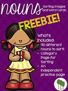 Students will have plenty to keep them practicing nouns with this product!  Included you will find: 90 nouns to sort (45 color pictures (15 people, 15 places and 15 things) and 45 words (same breakdown)).Noun Category Page for placement of sorted cardsAn Individual Noun Practice Page with pictures (b&w).Print, Cut [Laminate] and Use!