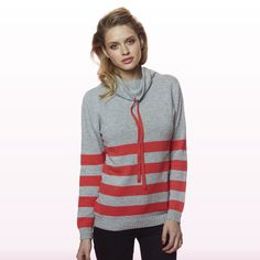 Annabel Cowl Cygnet & Red Sweater Shop, Red Sweaters, Cowl, Cashmere, Pullover, Hoodies, Winter, Shopping, Collection