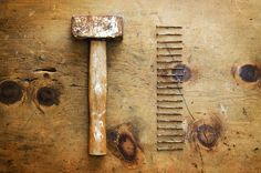 Vintage hammer and nails 1 by WonderMe on @creativemarket