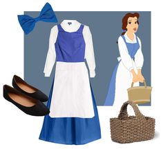Disney Princess Beauty and The Beast Belle Blue Dress Cosplay ...