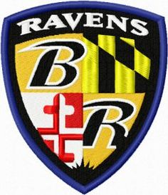 Baltimore Ravens machine embroidery design $9 embroideres.com