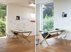 ausgefallene Schreibtische für Ihr Büro holz schublade klappbar