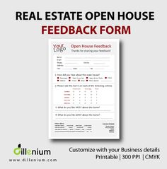 Realtor Printable  Realtor Open House Sign In Sheet Printable