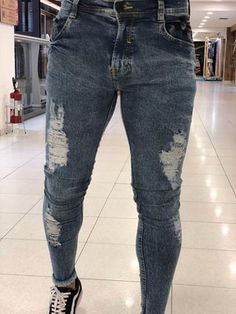 17018e055 Imperium Store. Calça Jeans Skinny Destroyed ...