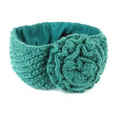 Lined Posy Headband - Pool (Knitwear - Closeout ). A classic headband - with a fleece lining! Handmade of wool, and lined with soft fleece for added warmth and comfort. Fair Trade Clothing, Pretty Green, Knitted Headband, Sustainable Clothing, Model Photos, Hand Knitting, Boho Fashion, Wool, Handmade