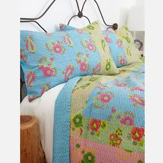 J. Rally Quilt and Shams Multi now featured on Fab.
