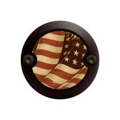 Black Modern Style Vintage U.S. Flag Horn Cover