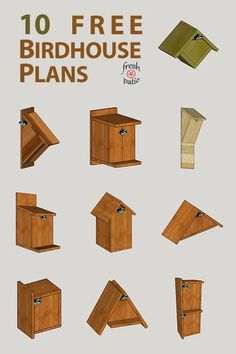 10 FREE Birdhouse Plans Built for 3 As the weather gets warmer we are starting to hear birds singing again they are back and about to make babies It s the perfect time to build Read Homemade Bird Houses, Bird Houses Diy, Woodworking Techniques, Woodworking Wood, Woodworking Beginner, Woodworking Quotes, Woodworking Patterns, Woodworking Magazine, Popular Woodworking