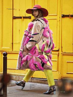 Pride of Paris: Alexandra Tikerpuu by Benjamin Kanarek for SCMP Style December 2015 - Schiaparelli Fall 2015 Haute Couture