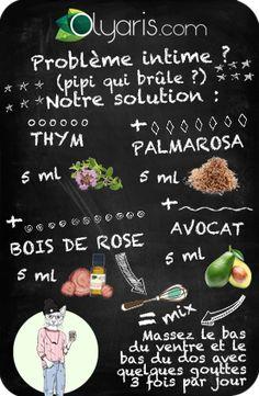 """Un petit problème intime ? Olyaris a la solution à la """"chaude pisse"""" grâce à cette synergie d'huiles essentielles et végétales contenant du thym."""