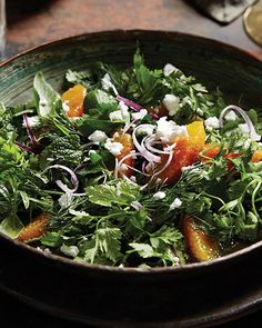 Persian Mixed Herb Salad with Honey-Lemon Dressing - http://www.sweetpaulmag.com/food/persian-mixed-herb-salad-with-honey-lemon-dressing #sweetpaul