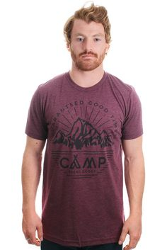 HERITAGE CREST T-SHIRT // TRI MAROON | Camp Brand Goods
