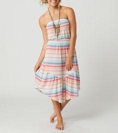 O'NEILL SUPER FLY DRESS... at www.hobiesurfshop.com and in #Hobie #Surf #Shops....   60% Cotton / 40% modal. Lightweight stripe pique tube dress. Encased elastic at top opening and true waist. #ONeill #Stripe #Beach #dress
