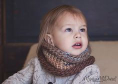 Toddler's Rustic Cowl, Boy's Scarf, Child's Blue and Beige Cowl, Kids Neckwarmer, Children's Neck Warmer, MADE TO ORDER on Etsy, $30.00