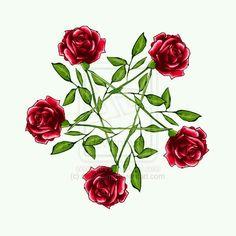 Pentagrama rose