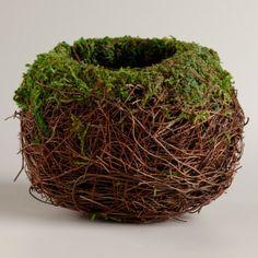 Runde Moosbedeckte Nest - gartendekoration