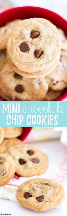 These homemade Chocolate Chip Cookies are mini-sized, making them perfect for those days when you need 3 or 4! The sweetest (and cutest) Chocolate Chip Cookie dessert!  It has been a few days since I've posted, which means that I am back from New York! It's bittersweet, really. What makes vacation so fun and relaxing is the …