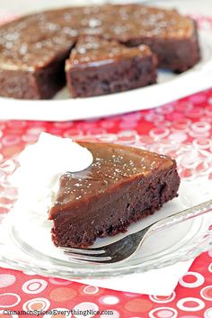 Flourless Chocolate Ganache Cake, (Ally here. Just made this and it turned out great! YUM!)
