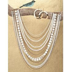 Chloe + Isabel Multistrand Bead + Chain Necklace $138
