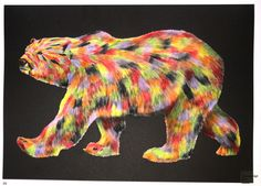 Tim Jeffs -  Intricate Ink Animals in Details volume 1   Polar Bear Coloured with Prismacolor Premiers