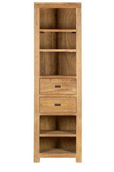 Batamba, bibliotheque deux tiroirs cinq niches 60 cm