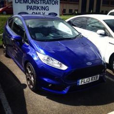 The all new #FordFiestaST at our T.C.Harrison Ford showroom in #Derby! Come and take it for a spin... You know you want to! ;) #awesome #fun #fast #ford #bluecar #fiestaST #ST #sunshine #sexy #alloys #newcar. Photo by tcharrisonford