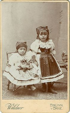 Little Girls in Moravian Folk Costumes by josefnovak33, via Flickr