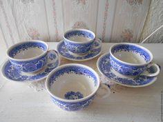 3 чайные пары от Villeroy Boch, серия Burgenland, винтаж – купить или заказать в интернет-магазине на Ярмарке Мастеров | Три чайные чашки и три блюдца от сервиза…