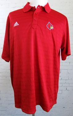 Men's Adidas Arizona Cardinals Dri-Fit Golf Polo Shirt Red XL New