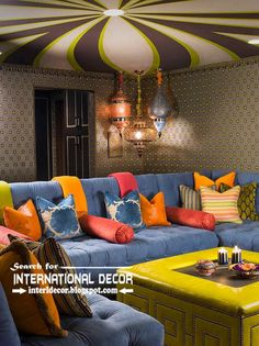 best color combinations, wallpaper and ceiling ideas in the interior 2015